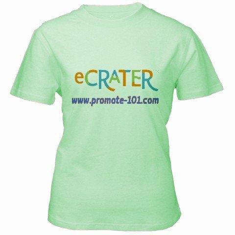 Custom Green Women's T-Shirt Medium Customized Promotional Personalize It Logo Item