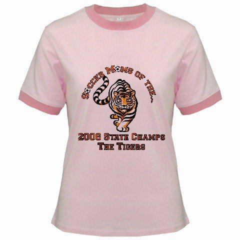 Ringer T-Shirt Jr SMALL Pink Customized Promotional Personalize It Logo Item
