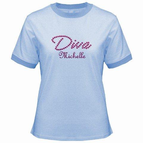 Ringer T-Shirt Jr  Ex-Large XL Blue Customized Promotional Personalize It Logo Item