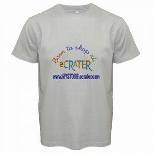 Custom Grey T-Shirt Large Customize Personalize Business Logo #CT