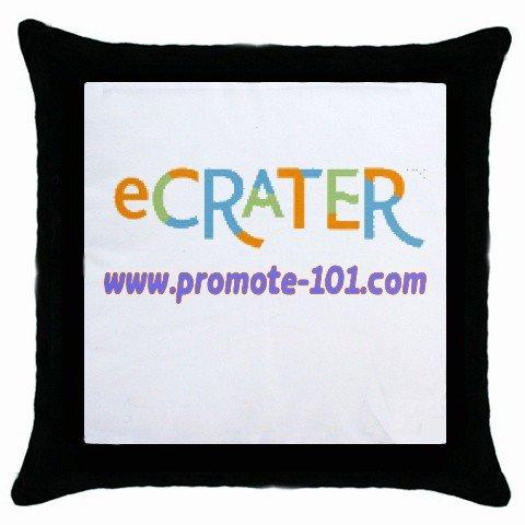 Custom Throw Pillow Case BLACK Customize Promotional Item Personalize It