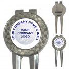Custom 3 in 1 Golf Ball Marker Divot Tool Customize Promotional Item Personalize It