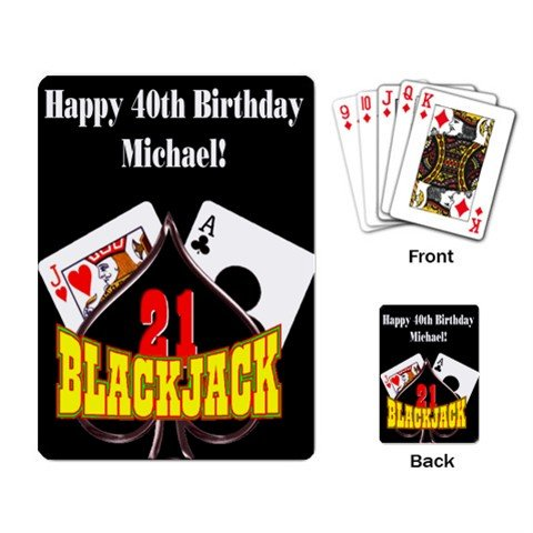 Single Deck of Custom Playing Cards Customize Promotional Item Personalize It
