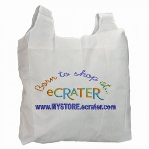 Custom Recycle Bag Green Bags Ecrater Logo and YOUR store address