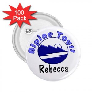 "Custom 2.25"" Button NAME Pins 100 pack Personalize Tour Company, Business Meetings ON SALE"
