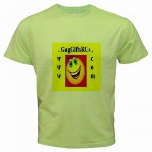 Custom Kiwi Green T-Shirt Large Customize Personalize Business Logo #CT