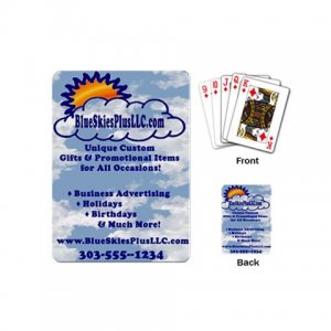 Single Deck of Mini Custom Playing Cards Customize Promotional Item Personalize It