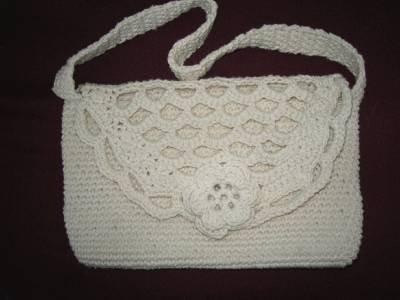 Handmade Crocheted Rose Purse