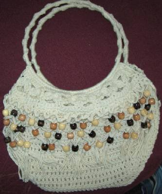 Hand Crocheted Beaded Purse