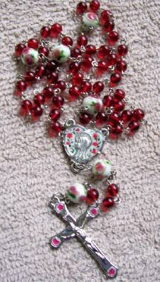 Handmade Pewter Rosary With Lampwork Beads