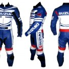 Custom made Suzuki Leather Motorbike Racing Suit With Protection