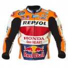 HONDA REPSOL Marc Marquez MOTORBIKE RACING JACKET + SHOES + GLOVES + BACK PROTECTOR + KIDNEY BELT