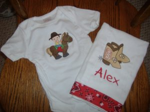 Embroidered baby gift sets