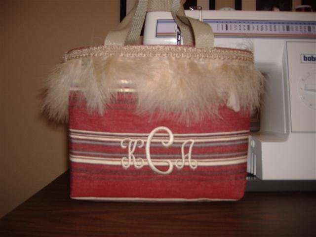Monogrammed placemat purse