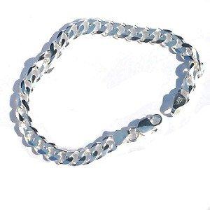 Sterling Silver Italian 8 Inch 6.5mm 6 side Curb 180 Bracelet