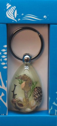 Keychain- Sea Horse Glow in the Dark