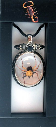 Necklace- Spiny Spider in Metal Setting