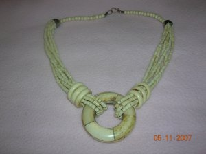 Ivory colored stone necklace FREE SHIPPING