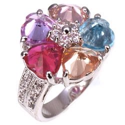 Bargain Jewelry: Pastel Happy Flower Ring, Size 6