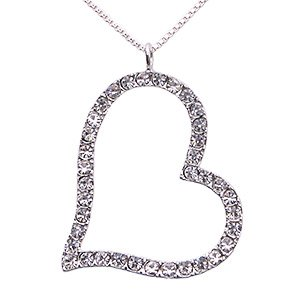 Free Shipping: Clear Angle Heart Pendant