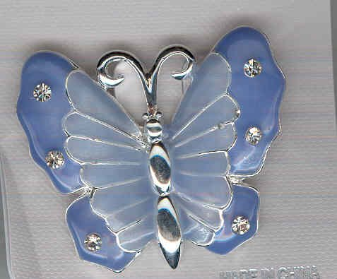 Bargain Jewelry: Blue Butterfly Pin FREE SHIPPING