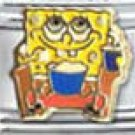 Free Shipping: Spongebob at the Movies Enamel Italian 9mm Charm