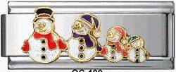 Free Shipping: Christmas Snowman Family Super Italian Charm 9mm