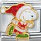 Free Shipping: Peanuts Skating Santa Snoopy Italian Charm 9mm