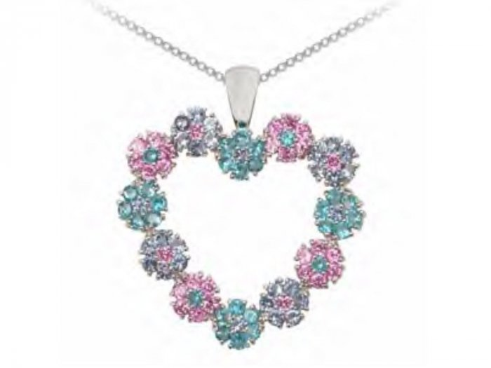 Forget Me Not Heart Pendant Retail Price: $86.95