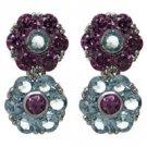 FREE SHIPPING Aqua and Amethyst Earrings
