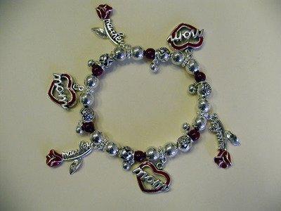 FREE SHIPPING!! Mother Heart Roses Charm Bracelet