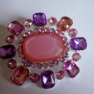Fun Pink and Purple Crystal Pin Broach
