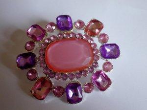 Fun Pink and Purple Crystal Pin Broach