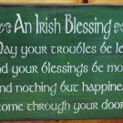 Irish Blessings Primitive Signs weddings wedding gifts Plaques St. Patricks Day inspirational shabby