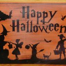 Halloween signs Decorations primitives Wood Sign Plaques Primitives Witches Witchcraft Cats Samhain
