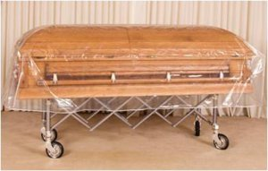 Light-Weight Clear  Casket  Covers (5 Covers)