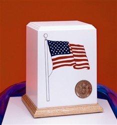 "Patriot ""Cultured Stone"" URN -  Navy Emblem"