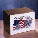 "EAGLE & FLAG ""Solid Bronze With Cultured Inset Urn"""