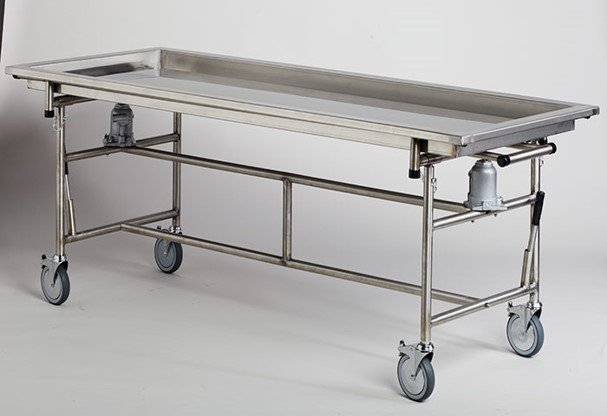 BRUTE Hydraulic  Embalming Table (1,500-lbs Capacity  /  1-Year Warranty)