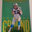 Christian McCaffrey 2018 Absolute Covering Ground Spectrum Gold Insert Card