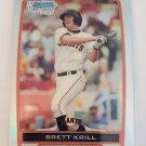 Brett Krill 2012 Bowman Chrome Prospects Refractor SN 296/500 Rookie Card