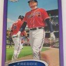Freddie Freeman 2012 Topps Chrome Purple Refractor Insert Card