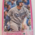 Adrian Gonzalez 2015 Topps Chrome Pink Refractor Insert Card