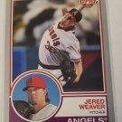 Jered Weaver 2015 Topps Archives Silver SN 100/199 Insert Card