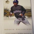 Jonathan Herrera 2008 SP Authentic Rookie Exclusives Insert Card
