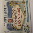Vegas Welcome Sign 2015 Allen & Ginters Keys To The City Insert Card