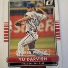 Yu Darvish 2015 Donruss Press Proofs Silver SN 28/199 Insert Card