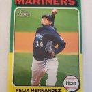 Felix Hernandez 2011 Topps Lineage '75 Mini Insert Card