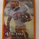 Anthony Dixon 2010 Topps Chrome Orange Refractor Rookie Card