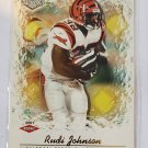 Rudi Johnson 2001 Impression Red Backs SN 27/280 Rookie Card
